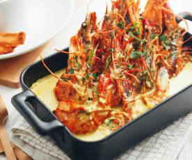 豆奶咖喱大虾