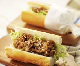 姜烧猪肉三明治