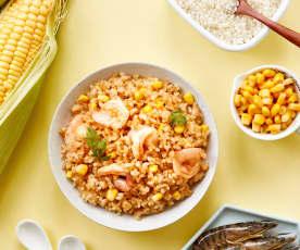 虾仁玉米烩饭