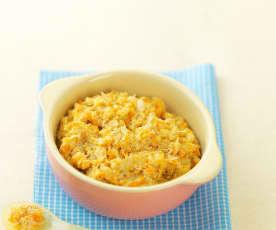 胡萝卜香菇鸡饭(13~18个月辅食)
