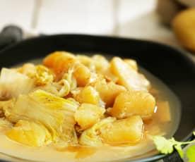土豆炖大白菜