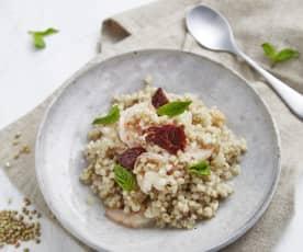 意式大虾荞麦饭