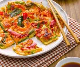 海鲜泡菜煎饼