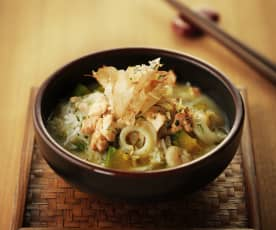 南瓜海鲜味噌泡饭