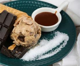 巧克力焦糖海盐冰激凌