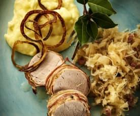 德国酸菜猪里脊配马铃薯泥