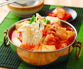 泡菜猪肉豆腐锅