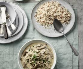 奶油蘑菇烩牛肉