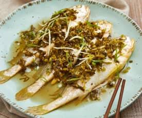 雪菜蒸小黄鱼