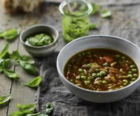 蔬菜意面汤