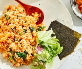 高纤辣味海苔菜饭