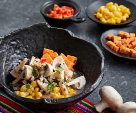 秘鲁风味白蘑菇色拉