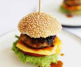 蘑菇芝士黑松露汉堡
