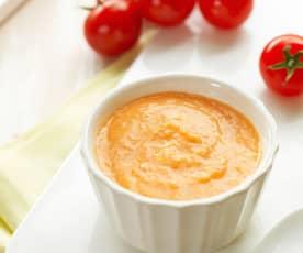鸡肉番茄米饭糊(10~12个月辅食)
