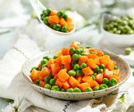 清炒胡萝卜豌豆