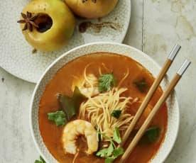 泰式鲜虾面、香料苹果