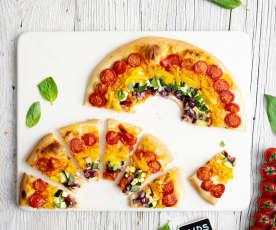 彩虹素披萨