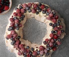 圣诞花环浆果蛋白饼