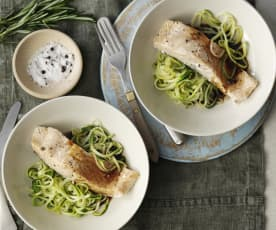 Balsamic Salmon and Courgette Noodles