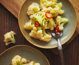 小炒松花菜