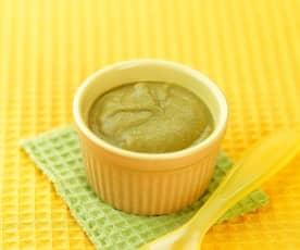 西兰花猪肝泥(10~12个月辅食)