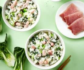 咸肉青菜烩饭