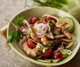 西西里式大虾色拉