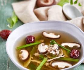 芹菜红枣瘦肉汤