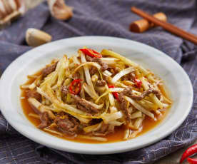 韭黄炒牛肉丝
