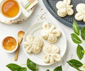 绿茶桂花蜜馒头