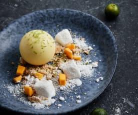 芒果奶冻配椰子冰沙