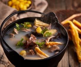 腐竹白果猪肚汤