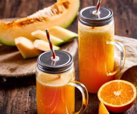 哈密瓜柳橙汁