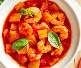茄汁蔬菜烩虾仁