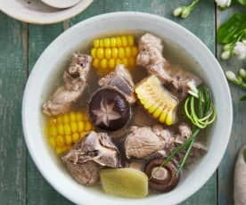 玉米冬菇排骨汤