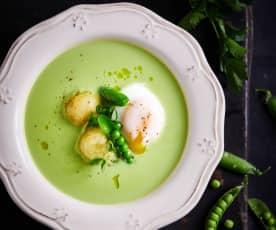 杂豆溏心蛋配炸蘑菇土豆丸子