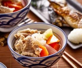 日式肥牛卷炖土豆