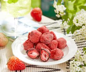巧克力冻干草莓