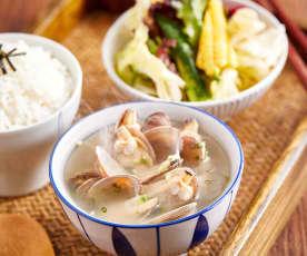 味噌花蛤汤