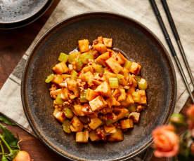 椒麻肉糜炒藕粒