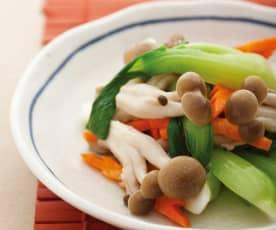 青菜炒鸿喜菇