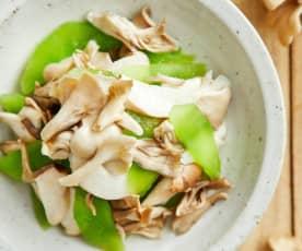 牛油果油炒舞茸
