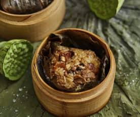 香菇鸡腿荷叶糯米饭