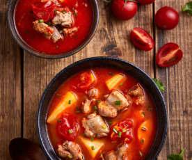番茄排骨土豆汤