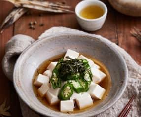 秋葵嫩豆腐