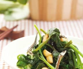番薯叶炒鳀鱼