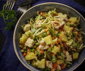 鸡肉马铃薯蔬菜色拉