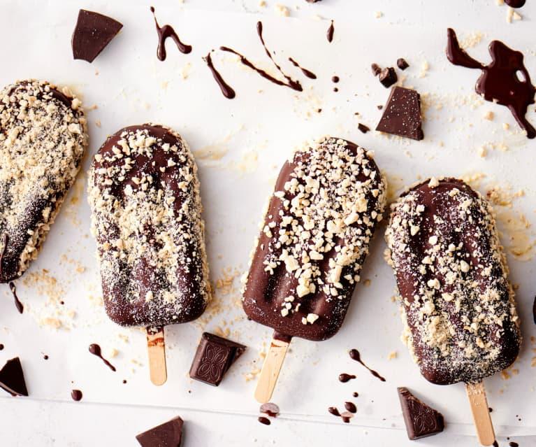 巧克力杏仁脆皮麻酱冰激凌棒冰