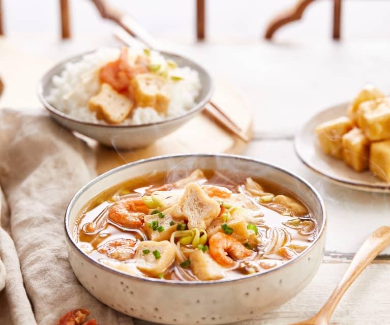 油豆腐豆芽汤