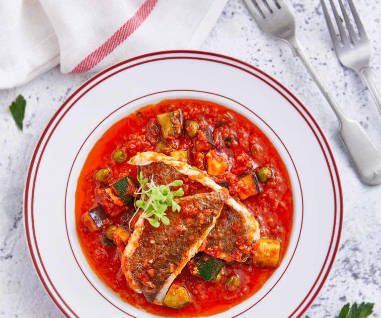 番茄橄榄海鲈鱼